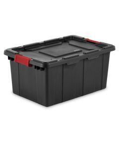 Sterilite 15 Gallon Industrial Storage Tote, Black