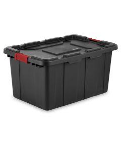 Sterilite 27 Gallon Industrial Storage Tote, Black