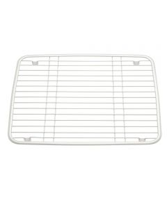 10.5 in. x 13 in. Pearl White Matte Axis Kitchen Sink Grid