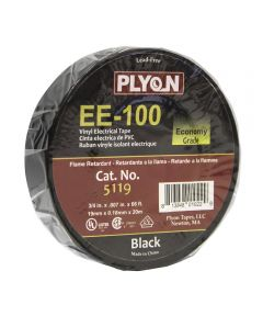 3/4 in. x 66 ft. Black Electrical Tape