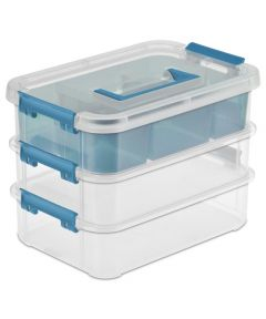 3-Layer Stack & Carry Box, 10-5/8 x 7-1/4 x 7-5/8 Inches