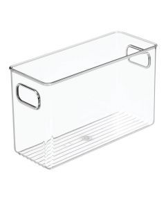 InterDesign 10 in. x 4 in. x 6 in. Clear Linus Bathroom Organizer Bin