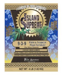 Island Supreme 4 lb. Palm & Tropical Plant Fertilizer, 9-3-9