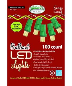 Warm White 100 Count M5 LED Christmas Lights