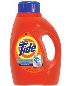 Tide 2X Ultra Laundry Detergent, 50 oz., Bottle, Blue, Liquid, Original