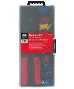 Insulated Terminal & Crimping Tool Kit 100 Piece