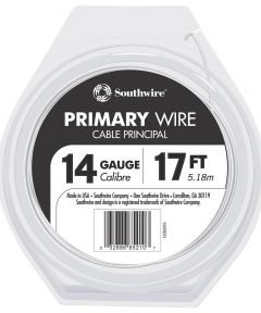 14/19 AWG 17 ft. White Stranded Primary Auto Wire