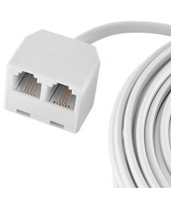 25 ft. White Phone Jack Cord