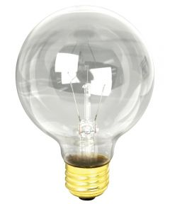 40 Watt Clear G25 Globe Light Bulb