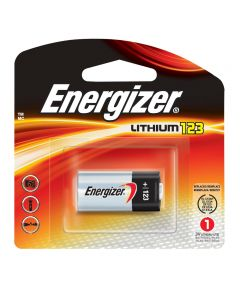 Energizer 123 3V Lithium Photo Battery, 1 Pack