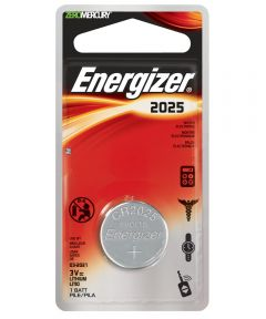 Energizer 2025 3V Lithium Watch/Electronic Battery, 1 Pack