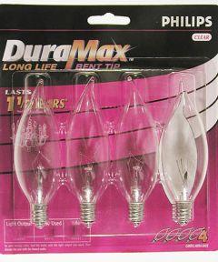 40 Watt DuraMax Bent Tip Chandelier Light Bulb 4 Count