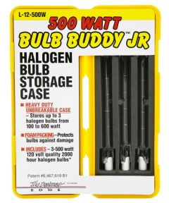 500W T-3 Bulb Buddy Jr Halogen Bulbs & Storage Case 3 Piece