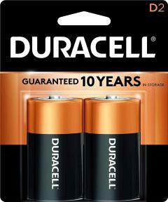 Duracell CopperTop D Alkaline Battery, 2 Pack