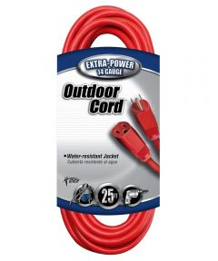 25 ft. 14/3 Red Extension Cord