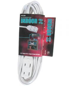 15 ft. 16/2 Indoor Cube Tap Extension Cord, White