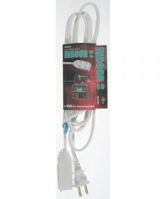 9 ft. 16/2 Indoor Cube Tap Extension Cord, White