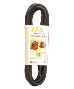 15 ft. 16/3 Black Vinyl Outdoor Extension Cord