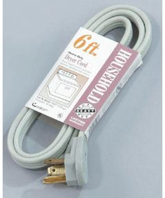 6 ft. Grey Dryer Cord