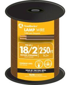 Brown 18 Gauge 2 Wire Lampwire (Sold Per Foot)