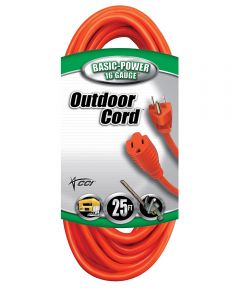 25 ft. 16/3 Orange Round Extension Cord