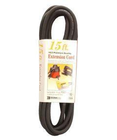 15 ft. 16/2 Black Vinyl Outdoor Extension Cord