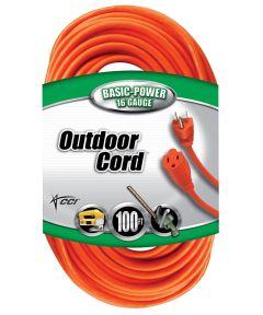 100 ft. 16/3 Round Orange Extension Cord