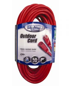 50 ft. 14/3 Red Extension Cord
