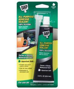 All Pupose 100% Silicone Adhesive Sealant, Aquarium Safe, 2.8 oz.
