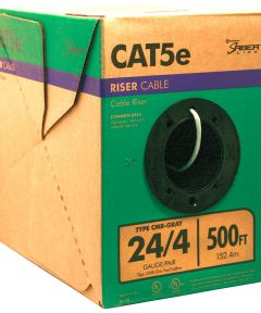 Grey 24 Gauge 4 Wire Riser Cable (Sold Per Foot)