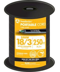 Black 18 Gauge 3 Wire Portable Cord (Sold Per Foot)