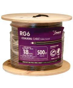 Black 18 Gauge RG6 Coax Cable (Sold Per Foot)