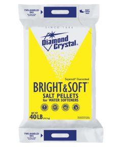 Diamond Crystal Bright & Soft Salt Pellet, 40 lb Bag, White, Crystalline Solid