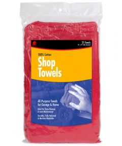 14 in. x 14 in. Red Shop Towels 25 Count