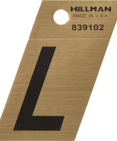 1.5 in. Black and Gold Adhesive Letter L, Angle Cut Mylar