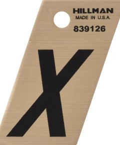 1.5 in. Black and Gold Adhesive Letter X