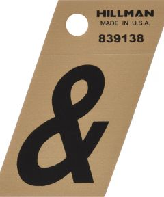 1.5 in. Black and Gold Adhesive Ampersand