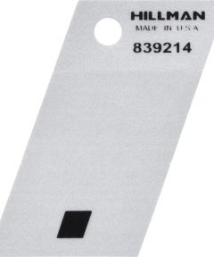 1.5 in. Black and Silver Reflective Adhesive Period