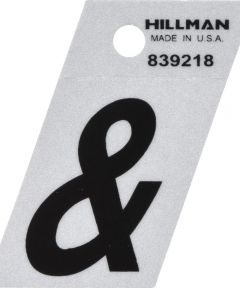 1.5 in. Black and Silver Reflective Adhesive Ampersand