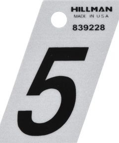 1.5 in. Black and Silver Reflective Adhesive Number 5
