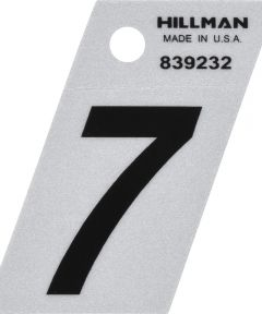 1.5 in. Black and Silver Reflective Adhesive Number 7