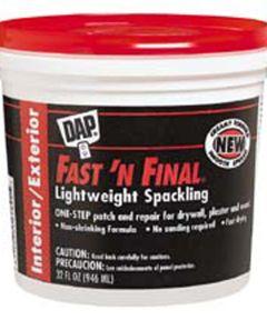1 Quart Fast'N Final Spackling Interior & Exterior