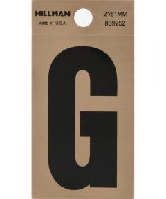 2 in. Black and Gold Adhesive Letter G, Square Cut Mylar