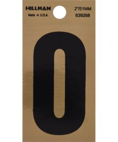 2 in. Black and Gold Adhesive Letter O, Square Cut Mylar