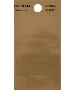 2 in. Black and Gold Adhesive Space, Square Cut Mylar