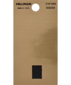 2 in. Black and Gold Adhesive Period, Square Cut Mylar