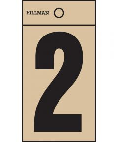2 in. Black and Gold Reflective Adhesive Number 2, Square Cut Mylar
