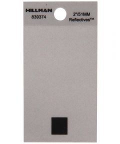 2 in. Black and Silver Reflective Adhesive Period, Square Cut Mylar