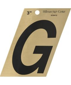 3 in. Black and Gold Adhesive Letter G