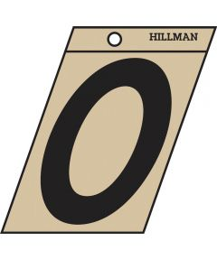 3 in. Black and Gold Adhesive Letter O, Angle Cut Mylar